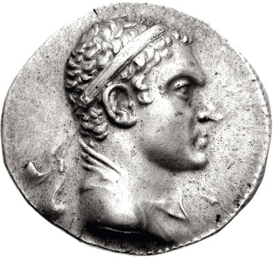 Agathokles Dikaios, King of Bactria, ca. 190-180, B.C.E.,       (Photo: Classical Numismatic Group, PA)