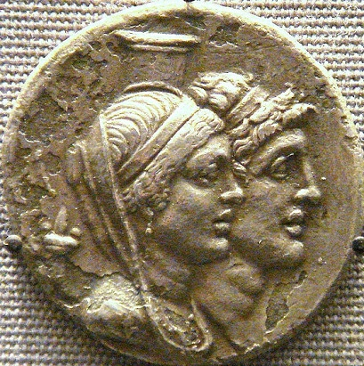 Cleopatra Thea and Alexander I Balas, ca. 150-146 B.C.E,       The British Museum, London   (Photo: Uploadalt, Wikipedia)