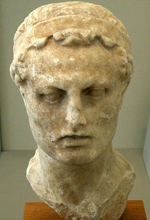 Antiochus IV Epiphanes, Seleucid King, reigned ca. 175-164 B.C.E.,     Altes Museum, Berlin    (Photo: Jniemenmaa, 2009, Wikipedia)