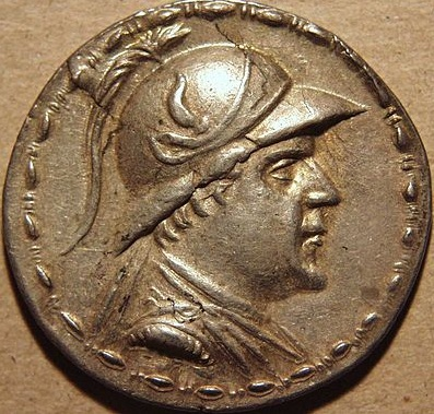 Eucratides, King of Bactria, reigned ca. 171-145 B.C.E.,    Location TBD   (Photo: Rani Nurmai, Wikipedia)