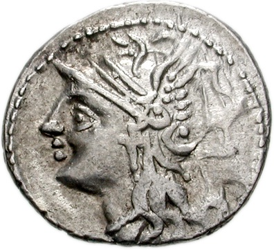 Lucius Appuleius Saturninus, Roman Quaestor, 104 B.C.E., Rome Mint  (Photo: Classical Numismatic Group, Lancaster, PA)