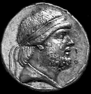 Phraates II, King of Parthia, reigned  138-128 B.C.E.,    from Seleucia Mint on Tigris,   Location TBD