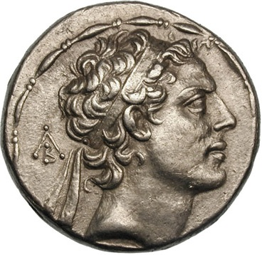 Antiochus IV Epiphanes, Seleucid King, reigned ca. 175-164 B.C.E.,     Location TBD   (Photo: Wikipedia)