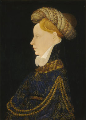 Franco-Flemish Woman, ca. 1410 by an Unknown Artist National Gallery, Washington D.C.