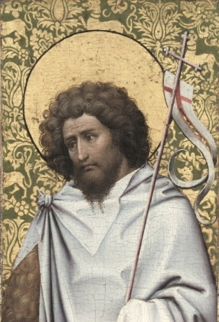 Saint John the Baptist, early 1410's attributed to Robert Campin, ca. 1375-1444