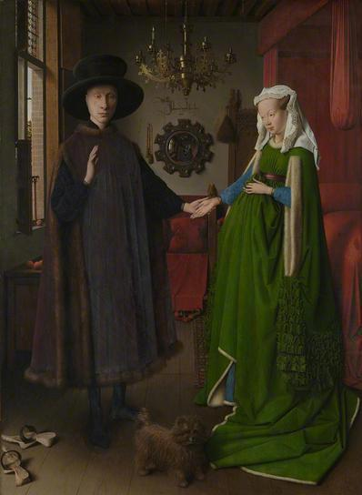 Giovanni Arnolfini and his Wife, 1434  (Jan van Eyck) (ca. 1387-1441) The National Gallery, London   NG186