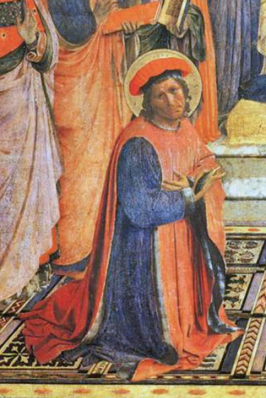 Cosimo di Giovanni de' Medici, the Elder, ca. 1438-1440 (Fra Angelico) (ca. 1395-1455) detail from San Marco Altarpiece, Museo San Marco Florence