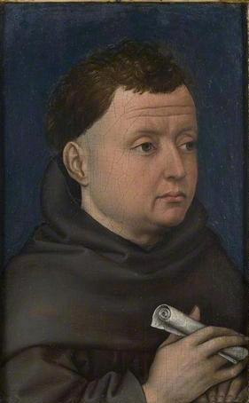 A Franciscan Friar, before 1432 by the workshop of Robert Campin, ca. 1378-1444 National Gallery, London NG6377