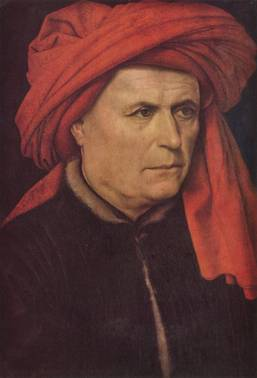 A Man, ca. 1435 by Robert Campin, ca. 1375-1444 National Gallery, London, Room 56