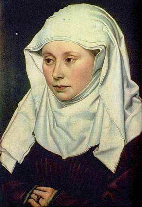 A Woman, ca. 1435 by Robert Campin, ca. 1375-1444 National Gallery, London, Room 56