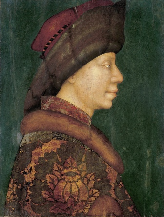 Prince of Muscovy, 1430-1440 attributed to Michele Giambono, ca. 1400-1462 Museo Palazzo Rosso, Genoa