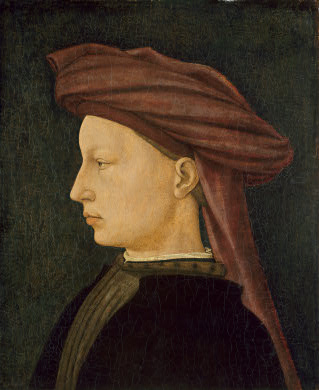 A Young Man, ca. 1430-1450 by an unknown Florentine Artist National Gallery of Art, Washington D.C. 1937.1.14