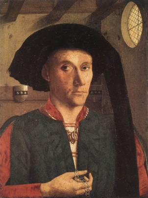 Edward Grimston, 1446 by Petrus Christus, ca. 1410-1476 National Gallery, London, L3, Room 56