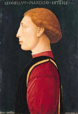 Leonello d'Este, 1447 by Giovanni da Oriolo, fl. 1439-1474 National Gallery, London