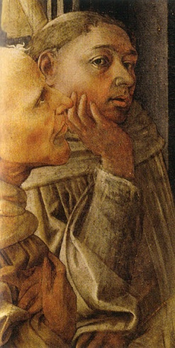 Self-Portrait, ca. 1441-1447, detail from The Coronation of Mary (Fra' Filippo Lippi) (ca. 1406-1469) Galleria degli Uffizi, Firenze