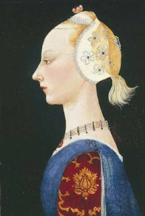 "A Young Lady of Fashion ""early 1460's"" (Paolo Uccello) (1397-1475) ISGM 1914 OOW 44.1/31.8cm"