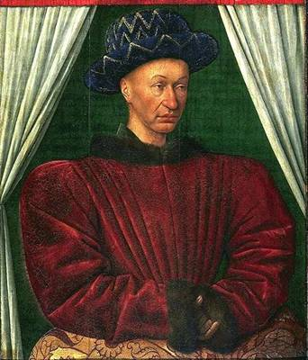"Charles VII ""1445-1450"" (Jean Fouquet) (1415-1481) Louvre INV. 9106"