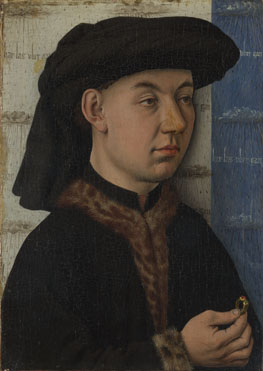 Man holding a ring, ca. 1550 (Unknown Master, follower of Jan van Eyck)  The National Gallery, London, NG2602