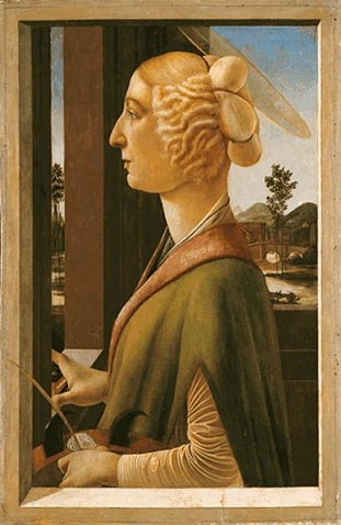 A Lady as St. Catherine, ca. 1475 (Sandro Botticelli) (1445-1510)   Lindenau-Museum, Altenburg