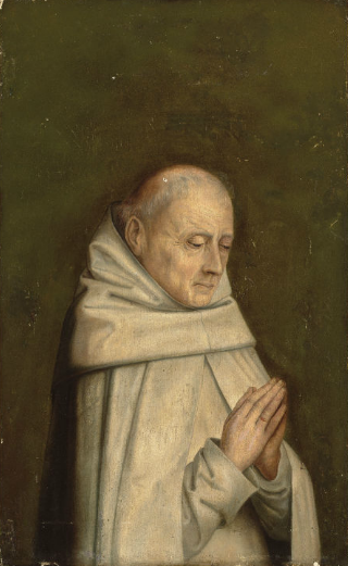 A Carthusian Monk, ca. 1460-1480 (circle of Dieric Bouts) (ca. 1410-1475) Christies Sale 6360, Lot 1   July 2, 2012