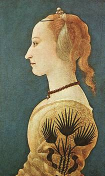 A Woman ca. 1470 (Alesso Baldovinetti)  (1425-1499) The National Gallery, London