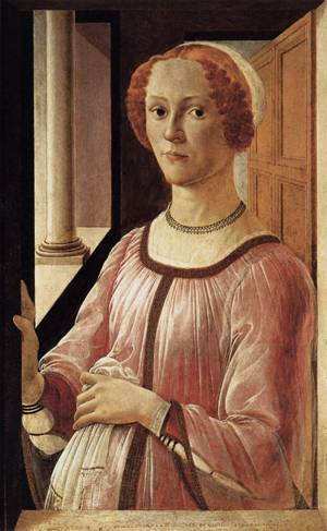 A Lady, ca. 1473 (Sandro Botticelli)      (1445-1510) Victoria and Albert Museum,  London