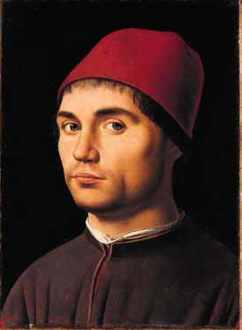 A Man, possibly a Self Portrait (Antonello da Messina) (1430-1479)   The National Gallery, London