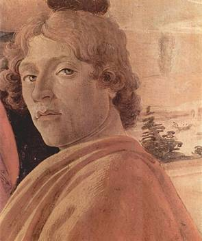 Self-Portrait, from Adoration of the Magi, ca. 1475    (Sandro Botticelli)  (1445-1510)