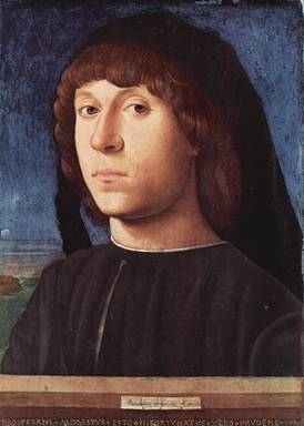 A Man (Antonello da Messina)     (1430-1479)            Gemaldegalerie, Berlin