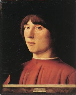 A Man, 1474 (Antonello da Messina)    (1430-1479) Staatliche Museen, Berlin