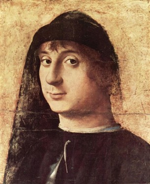 A Young Man ca. 1470  (Antonello da Messina) (1430-1479) Philadelphia Museum of Art, PA,  John Johnson  Collection