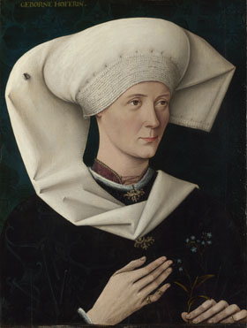A Woman of the Hofer Family, ca. 1470 (Unknown Swabian Artist) The National Gallery, London   NG722
