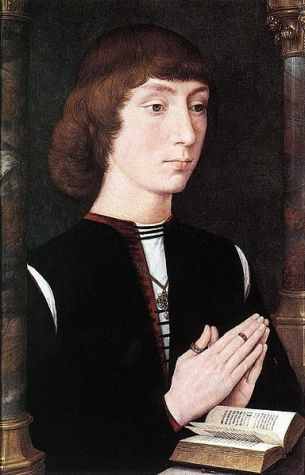 A Young Man, ca. 1475 (Hans Memling) (1433-1494) The National Gallery, London