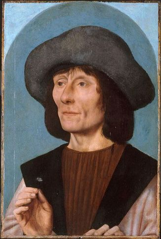 Man with Pink  ca. 1500-1510  by Quentin  Massys  Art Institute of Chicago