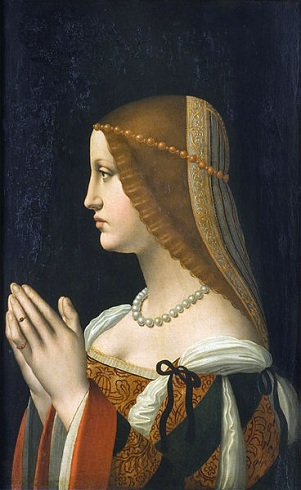 A Young Woman, possibly Bona Sforza, Countess of San Giovanni in Croce, ca. 1500 (style of Ambrogio de Predis) (1455-1508) Philadelphia Museum of Art, PA