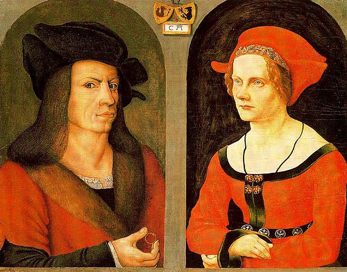 Coloman Helmschmid & Agnes Breu, ca. 1505 (Jorg Breu the Elder) (1475-1537) Location TBD