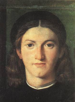 A Young Man, ca. 1505 (Lorenzo Lotto) (1480-1556) Uffizi, Firenze