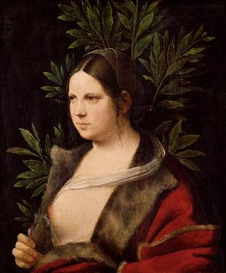 "A Young Woman ""Laura"", ca. 1506 (Giorgione) (1477-1510)   Kunsthistorisches Museum, Wien    GG_31"