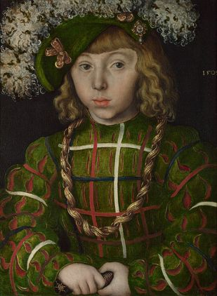 Johann the Magnanimous of Saxony, 1509 by Lucas Cranach the Elder, 1472-1553 National Portrait Gallery, London Room 4