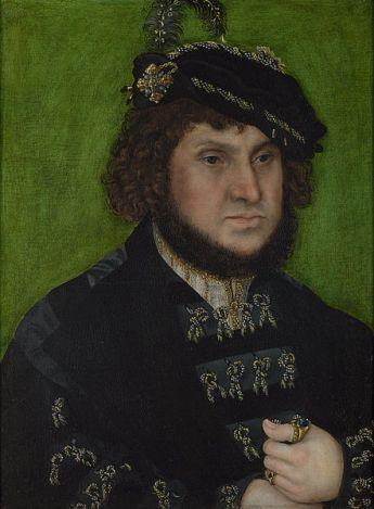 Johann the Steadfast, 1509 by Lucas Cranach the Elder, 1472-1553 National Gallery, London Room 4