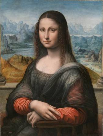 La Gioconda, copy of Mona Lisa, ca. 1507 by the workshop of Leonardo da Vinci, 1452-1519 Prado Museum, Madrid P00504