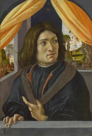 A Man, ca 1500 by Raffaelino del Garbo, ca. 1466-1524 National Gallery, London NG 3101