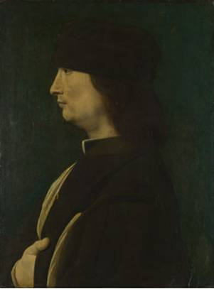 A Man, possibly Gerolamo Casioa, ca. 1500 by Giovanni Antonio Boltraffio, 1467-1516 National Gallery, London NG3916