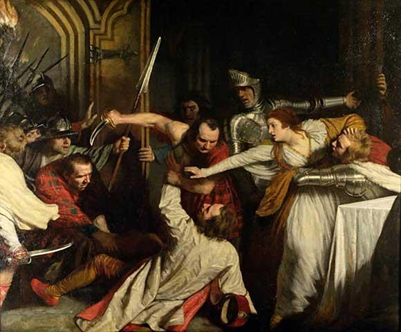 The Murder of Rizzio, March 9, 1566  (John Opie) (1761-1807)  painted 1787  Guildhall Art Gallery, London