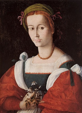 A Lady with a Nosegay, ca. 1525 (Bacchiacca) (1494-1557) Isabella Stewart Gardner Museum, Boston