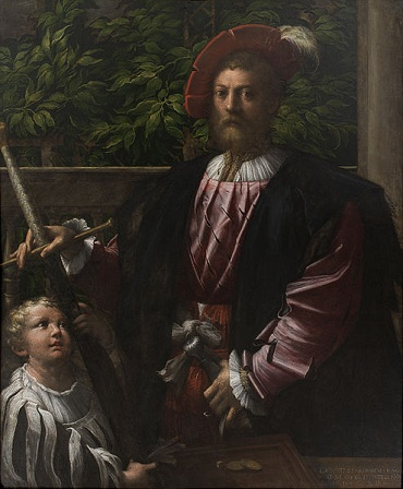 Lorenzo Cybo and child, 1523 (Parmigianino) (1503-1540) Statens Museum for Kunst, København, SP-73