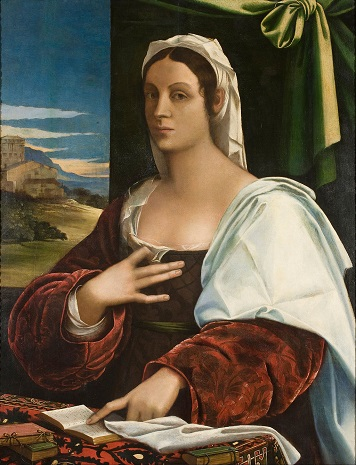 A Lady, said to be Vittoria Colonna, ca. 1520 (circle of Sebastiano del Piombo) (ca. 1485-1547) Museu Nacional de Arte de Catalunya, Barcelona