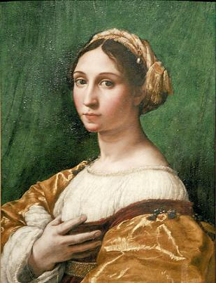 A Young Woman, ca. 1520 (attributed to workshop of Raphael) (1483-1528) Location TBD