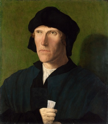 A Man at 38 years old, ca. 1521 by Lucas van Leyden, 1483-1533 Location TBD