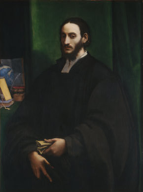 A Man (Humanist), ca. 1520 (Sebastiano del Piombo) (1485-1547) National Portrait Gallery, London 1961.9.38